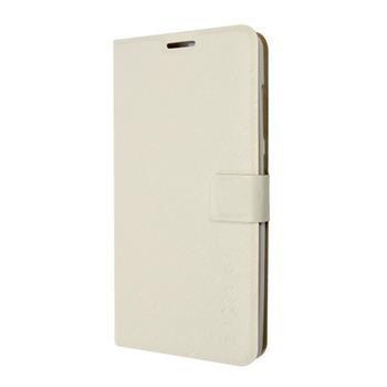 Pouzdro typu kniha FIXED s gelovou vaničkou pro Lenovo Vibe P1, bílé