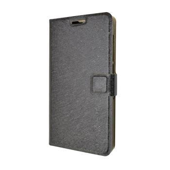 Pouzdro typu kniha FIXED s gelovou vaničkou pro Lenovo A536, černé
