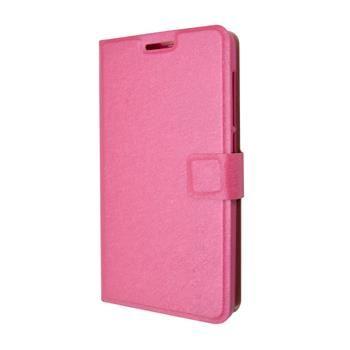 Pouzdro typu kniha FIXED s gelovou vaničkou pro Lenovo A536, růžové
