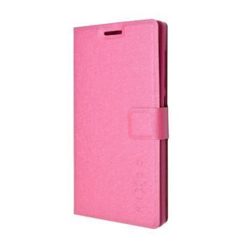 Pouzdro typu kniha FIXED s gelovou vaničkou pro Lenovo A328, růžové