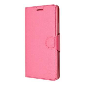 Pouzdro typu kniha FIXED s gelovou vaničkou pro Lenovo A7000, růžové