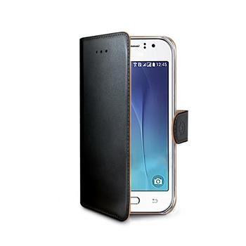 Pouzdro typu kniha CELLY Wally pro Samsung Galaxy J1 Ace, PU kůže, černé