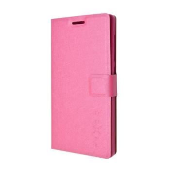Pouzdro typu kniha FIXED s gelovou vaničkou pro Lenovo A1000, růžové