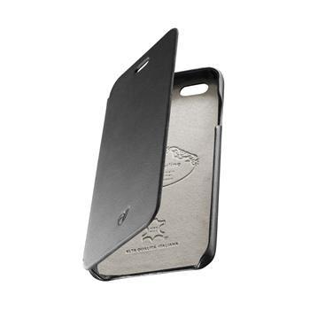 Luxusní pouzdro typu kniha CellularLine SUITE pro Apple iPhone 6/6S, pravá kůže, černé