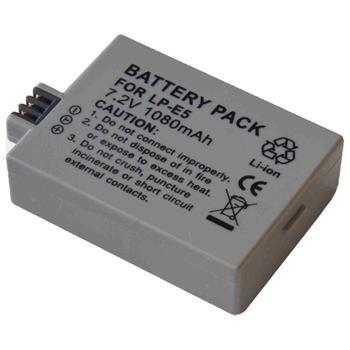Baterie Extreme Energy typ Canon LP-E5, Li-Ion 1200 mAh, šedá