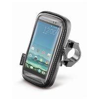 """Voděodolné pouzdro Interphone SMART pro telefony do velikosti 5.2"""", úchyt na řídítka, černé"""