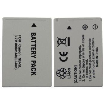 Baterie Extreme Energy typ Canon NB-5L, Li-Ion 960 mAh, šedá
