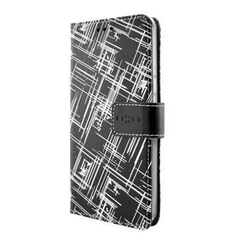 Pouzdro typu kniha FIXED Opus pro Sony Xperia XA, motiv White Stripes