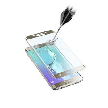 Ochranné zaoblené tvrzené sklo pro celý displej CellularLine GLASS pro Samsung Galaxy S6 EDGE Plus, zlaté