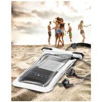 Vodotěsné univerzální pouzdro Cellularline VOYAGER MUSIC, 3,5 mm konektor pro sluchátka,  bílé