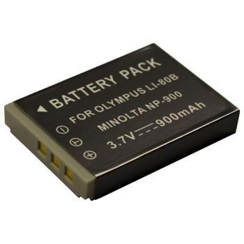Baterie Extreme Energy typ Olympus Li-80B, Li-Ion 900 mAh