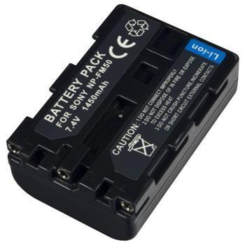 Baterie Extreme Energy typ Sony NP-FM50, Li-Ion 1450 mAh, šedá