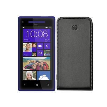 Pouzdro typu flap CELLY FACE pro HTC Windows Phone 8X, PU kůže, černé