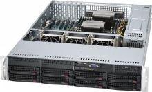 SC825TQ-R720LP 2U eATX13, 8sATA/SAS,slimCD,LP,rPS 720W (80+ GOLD),černé