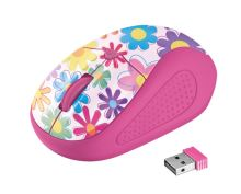myš TRUST Primo Wireless Mouse - pink flowers