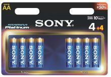 SONY Alkalické baterie AM3PT-B4X4D , 8ks LR6/AA