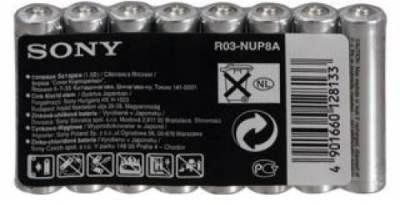 SONY Baterie tužkové R03NUP8A-EE, 8ks R3/AAA
