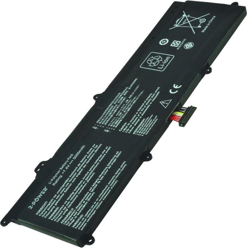 2-POWER Baterie 7,4V 5000mAh pro Asus F201E, F202E, Q200E, R200E, R201E, S200E, X201E, X202E