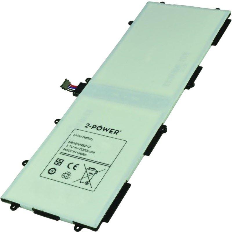 2-POWER Baterie 3,7V 8000mAh pro Samsung Galaxy Note 10.1 (GT-N8000), Galaxy Tab 10.1 (GT-P7500)