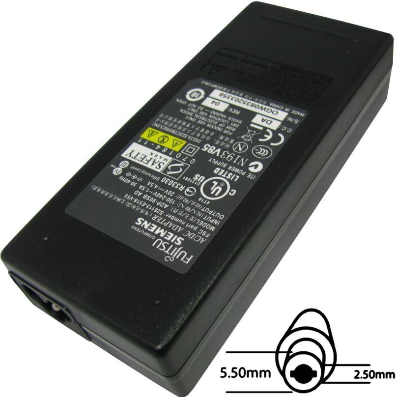 Napájecí adaptér 90W, 20V 5.5x2.5, originál Fujitsu
