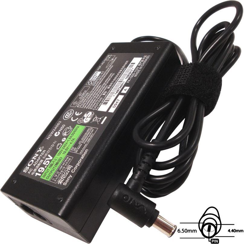Napájecí adaptér 90W, 19,5V 6.5x4.4mm, originál SONY