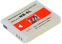 Baterie T6 power Canon NB-6L, NB-6LH, 700mAh, šedá
