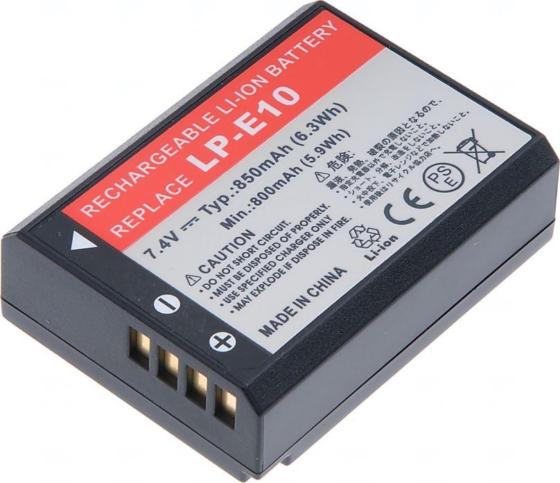 Baterie T6 power Canon LP-E10, 850mAh, černá