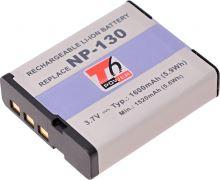 Baterie T6 power Casio NP-130, 1600mAh, černá