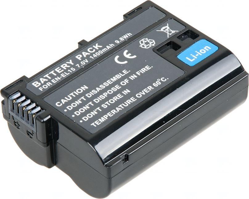 Baterie T6 power Nikon EN-EL15, 1400mAh, černá