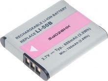 Baterie T6 power Olympus Li-50B, 800mAh, černá