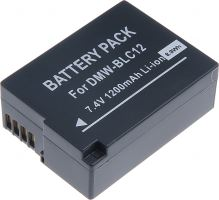 Baterie T6 power Panasonic DMW-BLC12E, 1200mAh, černá