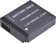 Baterie T6 power Panasonic DMW-BLH7, 600mAh, černá
