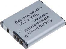 Baterie T6 power Sony NP-BK1, 800mAh, šedá