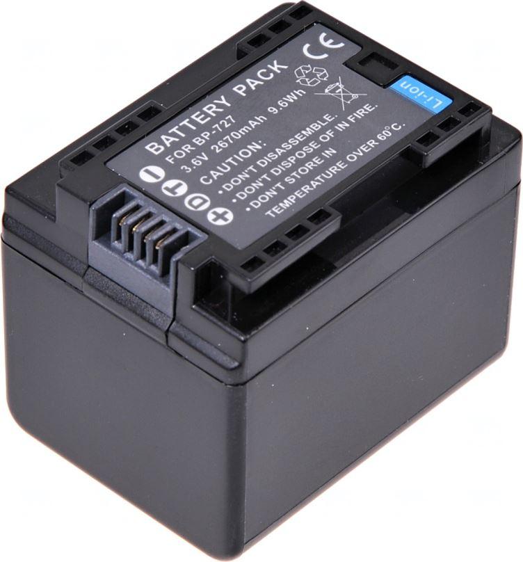 Baterie T6 power Canon BP-727, 2670mAh, černá