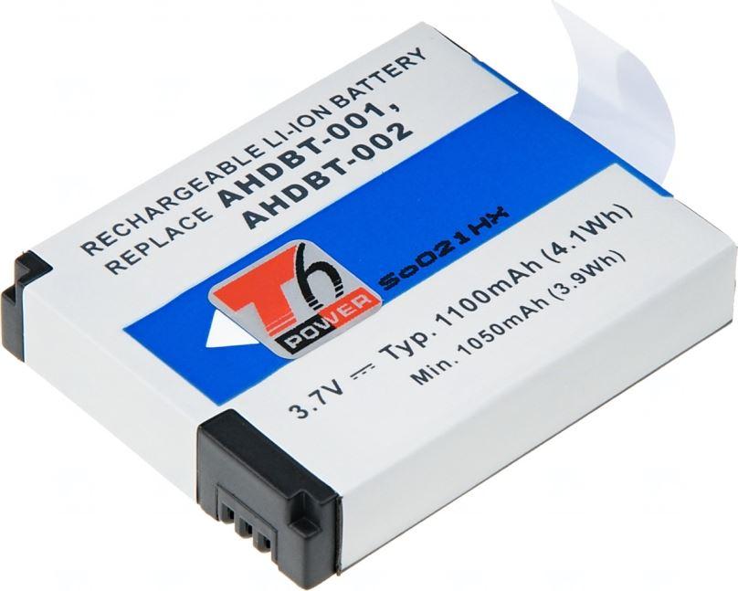 Baterie T6 power GoPro AHDBT-001, 1100mAh, šedá