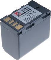 Baterie T6 power JVC BN-VF808, VF815, VF823, 2400mAh, šedá