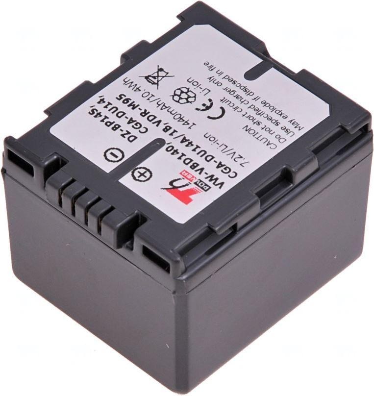 Baterie T6 power Panasonic VW-VBD140, CGA-DU14, Hitachi DZ-BP14S, 1440mAh, šedá