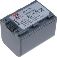 Baterie T6 power Sony NP-FP70, 1500mAh, šedá