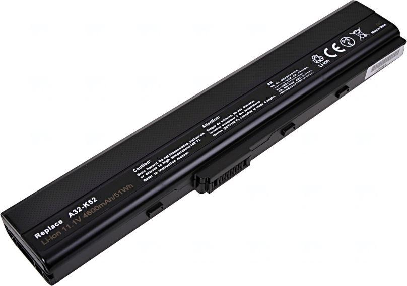 Baterie T6 power Asus A42, A52, B53, K42, K52, P52, N82, X42, X52, 6cell, 4600mAh