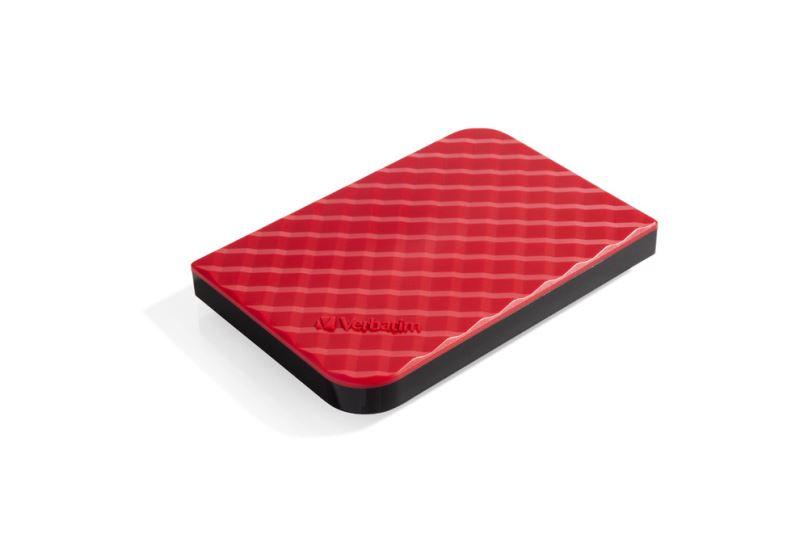 "VERBATIM HDD 2.5"", 1TB, USB 3.0, Red"