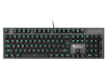 Mechanická klávesnice Genesis Thor 300, US layout, zelené podsvícení, Outemu Blue switch