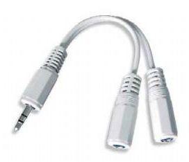 Kabel.rozdvojka jack 3,5na2x3,5mm M/F,10cm, audio