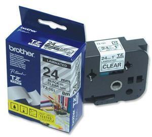 TZE-151,  průsvitná/černá, 24mm