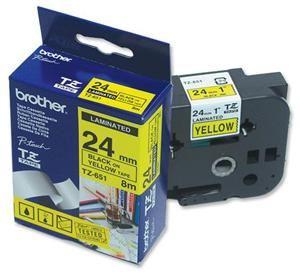 TZE-651,  žlutá/černá, 24mm