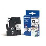 TZE-N231,  bílá/černá, 12mm