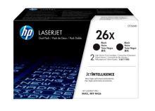 HP 26X tisková kazeta černá velká, CF226XD - 2pack