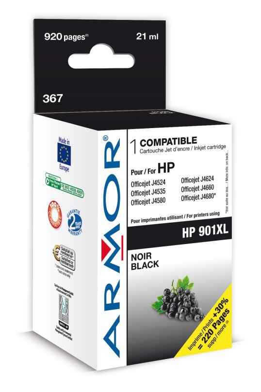 Armor ink-jet pro HP OJ J4524 21ml (CC654AE)Bk