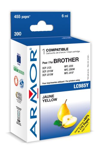 Armor ink-jet pro Brother DCP J125,6ml(LC985Y)Y