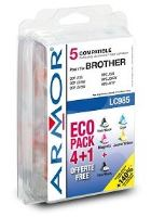 Armor ink-jet Brother 5x20ml,(LC980/1100BK/C/M/Y)