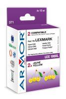 Armor ink-jet Lexmark bi-pack, 2x11ml (LEX100XL Y)